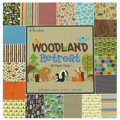 the Paper Studio x Woodland Retreat Paper Pack Scrapbook Page Layouts, Scrapbook Pages, Scrapbooking, Forest Theme Classroom, Classroom Themes, Hobby Supplies, Diy Supplies, Pennant Banners, Party Napkins