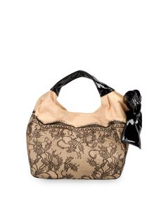 Valentino lace hobo bag
