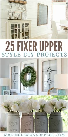 25 Fixer Upper Style DIY Projects