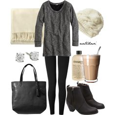 """""""Comfy Fall Winter Outfit"""" by natihasi on Polyvore"""