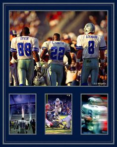 Troy Aikman, Emmitt Smith and Michael Irvin Dallas Cowboys - Triplets