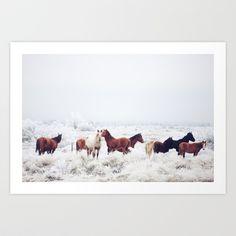 Winter Horseland Art Print by Kevin Russ - $17.00