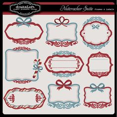 Christmas Frames & Labels Nutcracker Suite Collection by DreAmLoft, $3.99