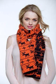 Reindeer christmas scarf