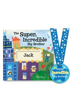 I SEE ME! 'The Super, Incredible Big Brother' Personalized Hardcover Book & Medal available at #Nordstrom