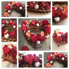 Fondant Cakes, Cupcake Cakes, Cupcakes, Alphabet Cake, Cream Biscuits, Monogram Cake, Valentine Cake, Valentines, Decorated Cookies