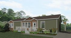 Exterior rendering Jacobsen Homes Floor Plan showing two dormers Small House Plans, House Floor Plans, Metal Building House Plans, Building Ideas, Manufactured Homes Floor Plans, Different Types Of Houses, Mobile Home Floor Plans, 3 Bedroom Floor Plan, National Building
