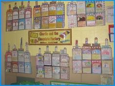 Charlie and the Chocolate Factory Group Project Bulletin Board Disply Roald Dahl School Displays, Classroom Displays, Classroom Themes, Classroom Charts, Classroom Resources, Roald Dahl Day, Roald Dahl Books, Book Projects, Group Projects