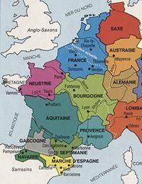 Les conquêtes de Charlemagne, Carte