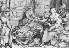 Hendrick Goltzius (1558-1617) The Rich Kitchen