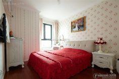 Simple European style romantic bedroom design 2015