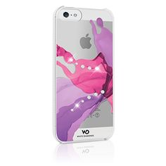 Cover iPhone 5 con elementi Swarovski. LIQUIDS Collection.