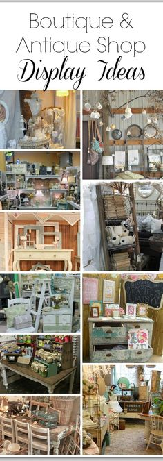 Doing Your First Vintage Market or Craft Fair? {Vendor Tips & Resources Vintage Market or Craft Fair Display Ideas (Sonoma Fog) - Mobilier de Salon Vintage Display, Antique Booth Displays, Antique Booth Ideas, Antique Mall Booth, Antique Shops, Sell Antiques, Vintage Stores, Vintage Decor, Flower Shops