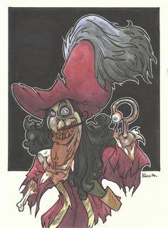 DISNEY ZOMBIE MASTERWORKS - CAPTAIN HOOK by leagueof1.deviantart.com on @DeviantArt