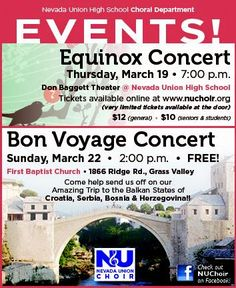 Nevada Union choir spring concerts
