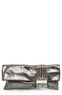 That is some handbag. Gorgeous metallic clutch from Jimmy Choo.