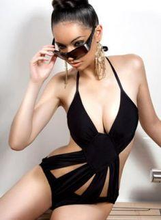 "GLAMOROUS LIFE Australian Designer ""Quartz"" Maillot,  Swimsuit, Bodysuit Bathing Suit Monokini Bikini Swimwear, Chic"