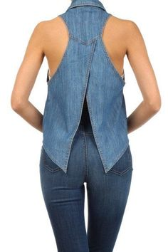 Womens Fashion - denim,ideas-Stunning 37 Attractive Denim Jeans Outfit Ideas For Women In Summer You are in the right place about Women Top for work Outfit Jeans, Jeans Dress, Denim Fashion, Fashion Outfits, Womens Fashion, Fashion Top, Fashion Ideas, Sewing Clothes, Diy Clothes
