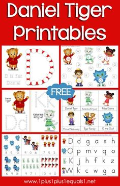 Daniel Tiger Printables {free} from @{1plus1plus1} Carisa  #preschool