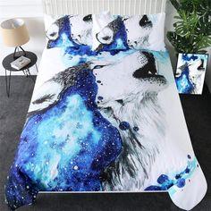Girls Bedding Sets, Duvet Bedding Sets, Girl Bedding, Black Bedding, Hd Design, Wolf Howling, Blanket Cover, Cotton Duvet, Cool Artwork