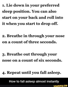 How to fall asleep almost instantly