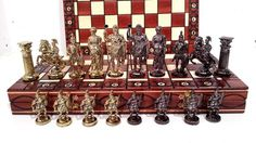 Luxury SPARTAN Wooden Chess Set SENATOR Chessboard 40x40cm & Weighted Pieces !!! #MasterOfChess