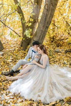 Gorgeous autumn wedding portrait of a couple sitting in a sea of fallen yellow leaves at their destination wedding in New Zealand Autumn Wedding, Our Wedding, Destination Wedding Locations, Yellow Leaves, Wedding Portraits, Jet Set, New Zealand, Engagement Photos, Wedding Inspiration