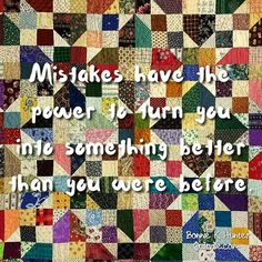 It's not how we make mistakes, but how we correct them and grow from them that defines us. Oklahoma Backroads quilt was our Workshop project yesterday with a palmetto Quilters in Hilton Head. Free  pattern from my blog at Quiltville.blogspot.com link in profile. . . #quilt #quilting #patchwork #quiltville #bonniekhunter #scrapquilt #deepthoughts #wisewords #wordsofwisdom #quiltvillequote #quote