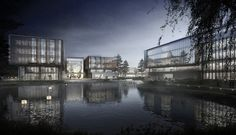 Ennead Architects Design Huawei Research Center in Wuhan, China,Courtesy of Ennead Architects