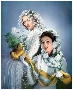 Mrs. Stanley Mortimer (the future Babe Paley) on the right. Photographed by Horst for Vogue, April 1941.