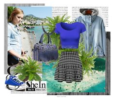 """SheIn contest- Blue Denim Jacket!"" by ane-twist ❤ liked on Polyvore featuring moda y Edition"