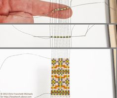 No Warps Loom Beading With Knitting Needles: Beading a Pattern