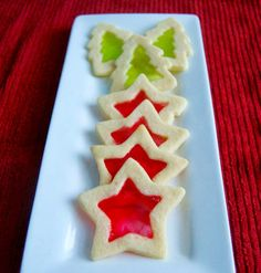 Stained Glass Cookies – Rolled sugar cookies cut out and filled with crushed Jolly Rancher candies which melt and create a stained-glass effect. Ok, what's really supposed to be Day 3 of the 12 Days of Cookies is Day 2… Or is it the other way around.Anywho,We're having a 12 Days of Cookies Party over on... Read More »
