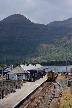 Britains 10 most scenic rail joureys best in pictures.   Kyle of Lochalsh railway station, Scotland