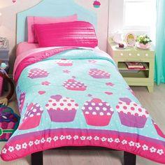 New Girls Teens Aqua Pink Purple CupCakes Comforter Bedding Bed Sheet Sets, Bed Sheets, Teen Girl Bedding, Purple Cupcakes, Aqua Bedding, Queen Sheets, Toddler Rooms, Bedroom Wardrobe, Room Themes