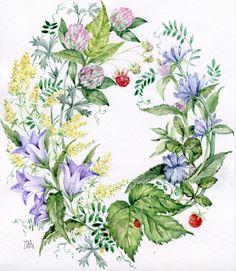 pretty! -- chickory, campanula, solidago & clover