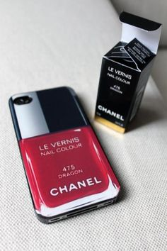 When accessorizing don't neglect your phone bling. I love this Chanel nail polish or perfume bottle designed iPHONE cover.