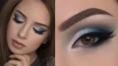 Makeup for brown eyes in blue colors :: one1lady.com :: #makeup #eyes #eyemakeup