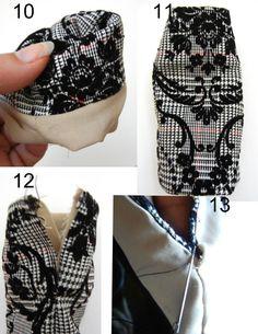 Fashion Doll Stylist: Sew What: How to Line a Skirt & Dress for Barbie size doll. Www.fashiondollstylist.blogspot.com