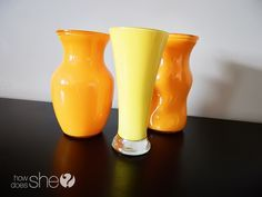 how to paint the inside of a vase without the streaks from your paintbrush