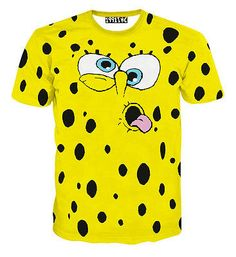 644ac8c1f32 New 2015 Men s SpongeBob 3D Print short T-shirt Top Free Shipping Cool T  Shirts