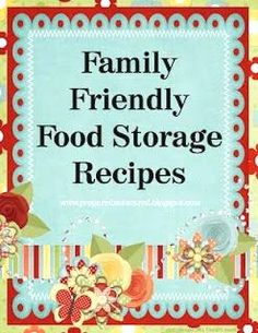 Food Storage Recipes Binder Cover  Prepared Not Scared blog
