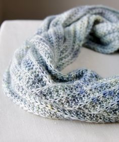 Opul Infinity Scarf by Megan Goodacre free pattern available on Ravelry