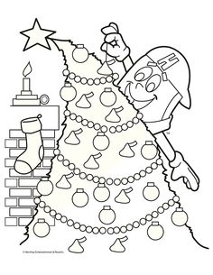 Holiday Printable Coloring Sheet