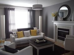 Here's my grey, white and yellow livingroom. You like?