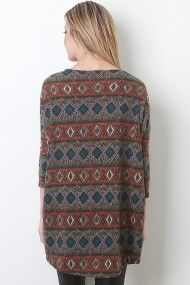 Mixed Print Knit Top #urbanog