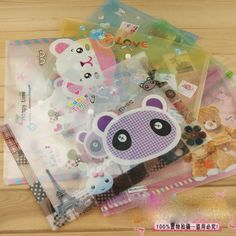 $19.97 for 30 pieces. Busy bag pouch idea. DCB25 Lovely Big A4 size transparent file bag/bird document bag / South Korea Style Gifts/Freeshipping-in File Folder from Office & School Supplies on Aliexpress.com