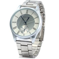 Rosivga 823 Decorative Sub-dials Quartz Watch with Stainless Steel Body Roman Numeral Scales for Men #>=#>=#>=#>=#> Click on the pin to check out discount price, color, size, shipping, etc. Save and like it!