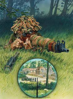 British/Commonwealth Sniper in Normandy 1944