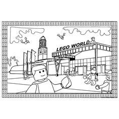 Leuk voor kids kleurplaat ~ Lego wereld
